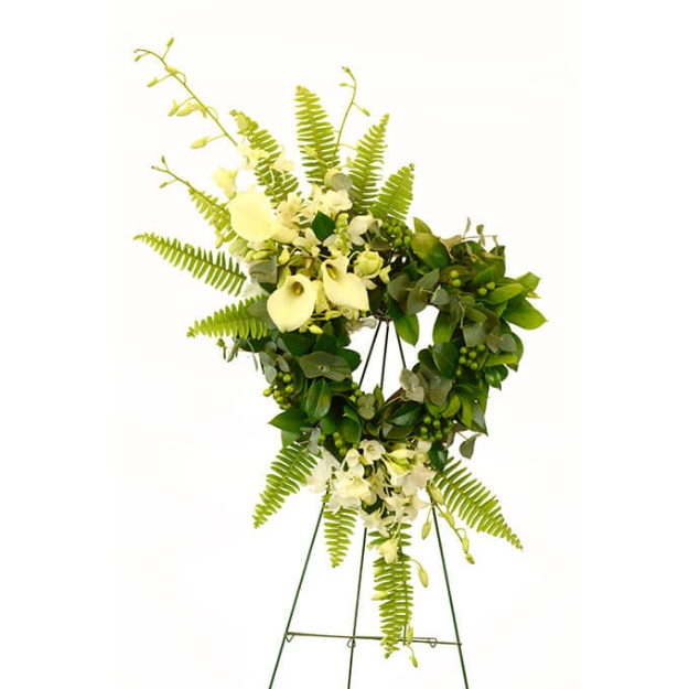 Picture of Green Solace Heart Wreath